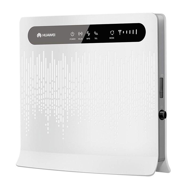Thiết bị phát wifi từ sim 4G Huawei B593s hỗ trợ cùng lúc 35 user - nguồn trực tiếp 12V (trắng) HÀNG NHẬP KHẨU