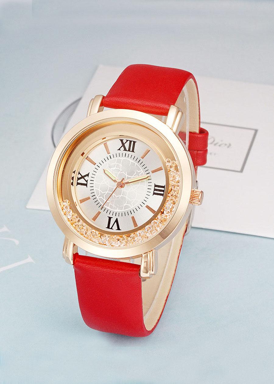 Đồng hồ nữ dây da sang trọng, tặng kèm vòng tay Titan - Hàng nhập khẩu