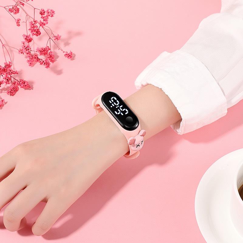 Đồng hồ trẻ em điện tử thông minh Led cực đẹp ZO109 dây đeo hình hoạt hình ngộ nghĩnh