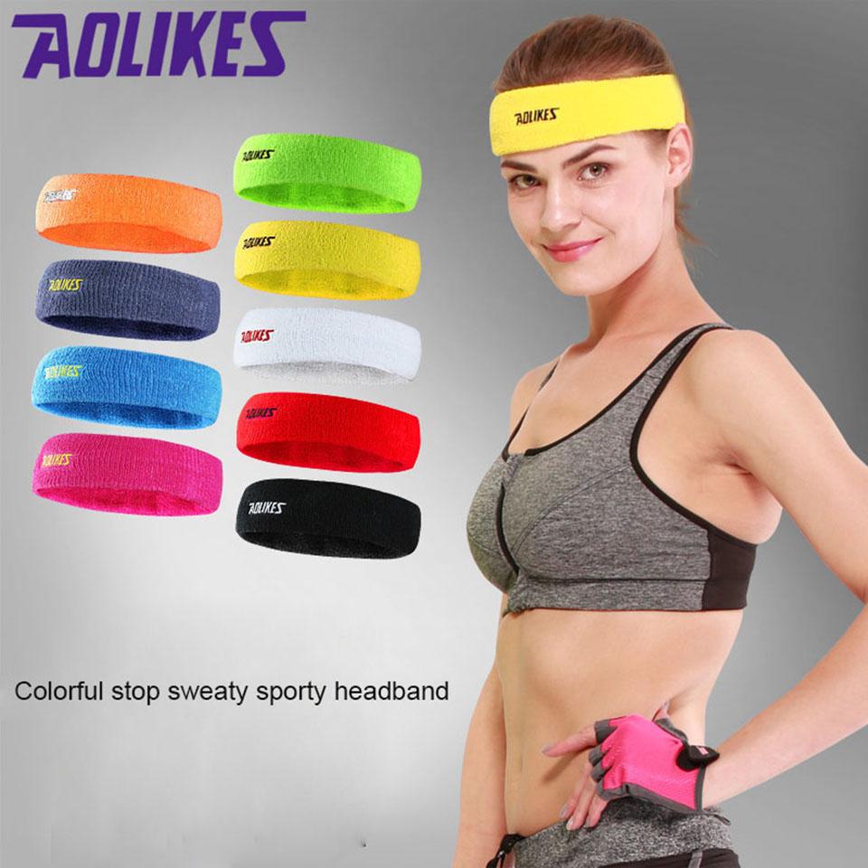 Băng trán băng đô thể thao AOLIKES A-2108 thấm hút mồ hôi khi chơi thể thao Sport Sweat Headband