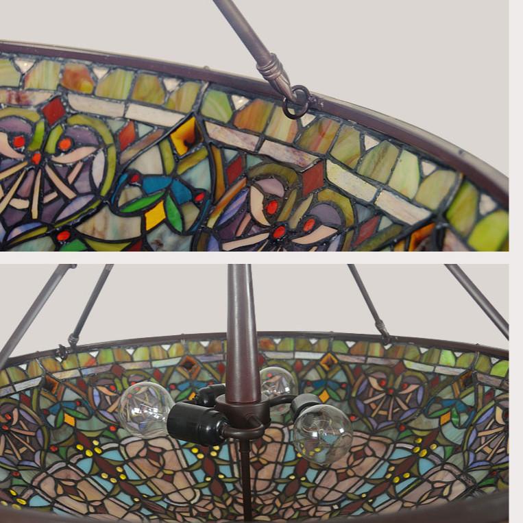 Đèn trần trang trí Tiffany Baroc - đường kính 56cm