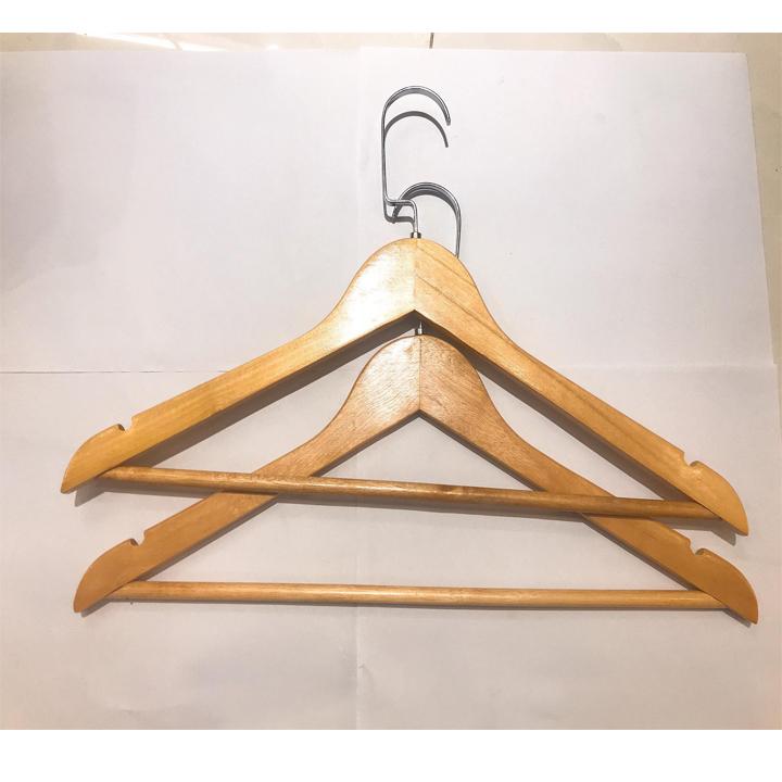 Bộ 10 móc gỗ TN phối đầu móc dẹp