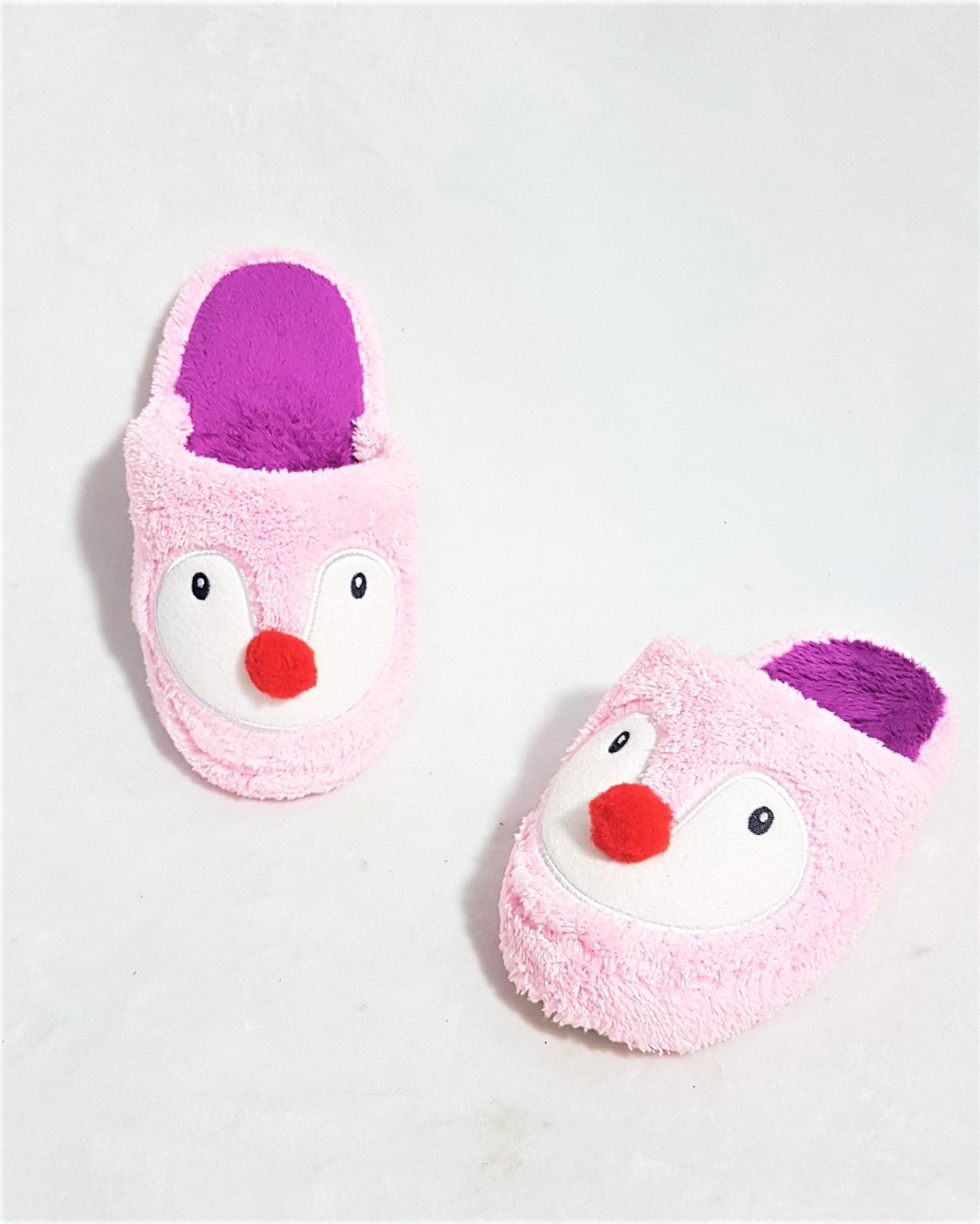 Dép đi trong nhà trẻ em Easy Life Slippers PENGUIN 3327 - Hồng Phấn - 30/31