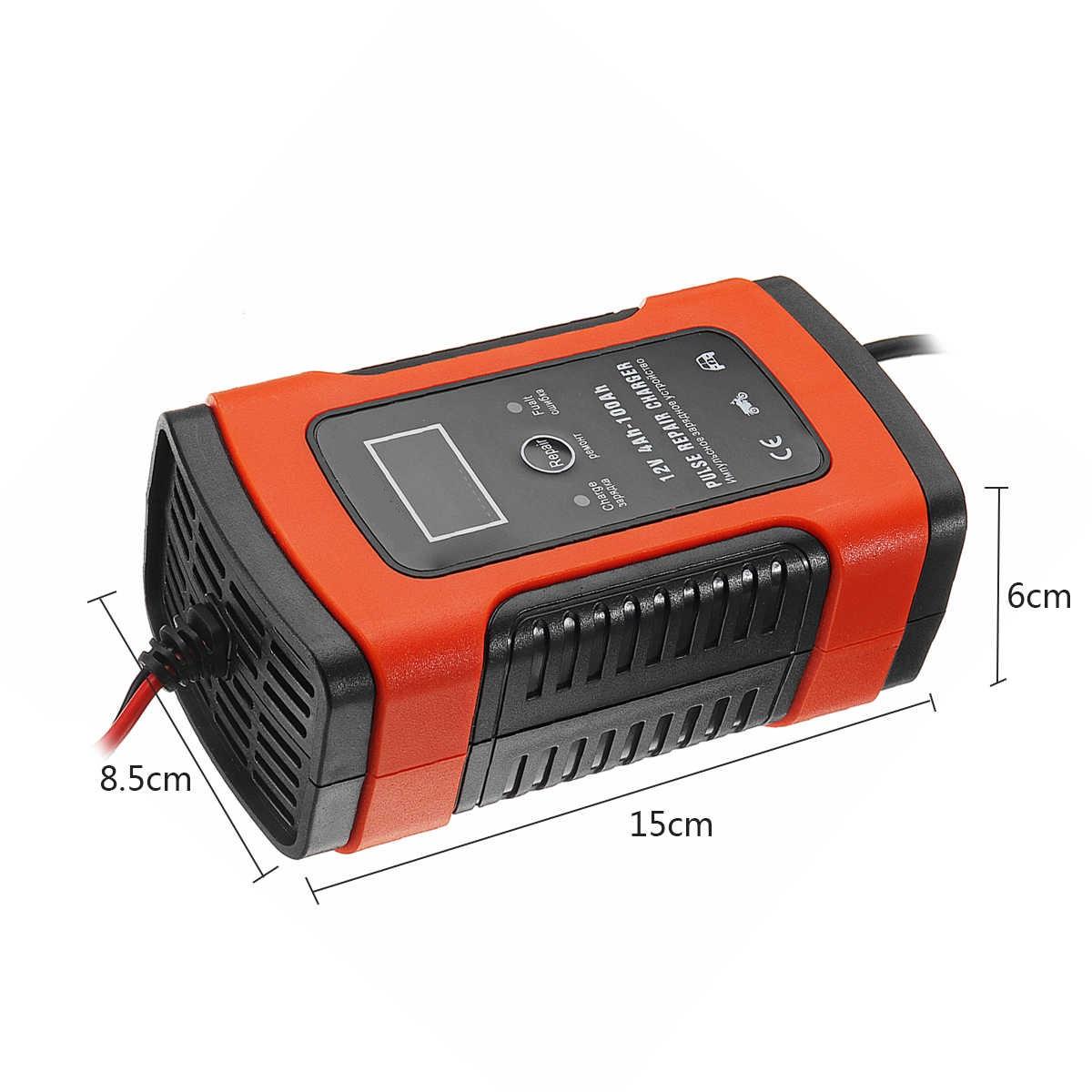 Máy sạc bình ắc quy 12V 100Ah thông minh tự ngắt khi đầy có chức năng khử sunfat bảo dưỡng phục hồi ắc quy có quạt tản nhiệt