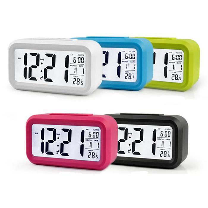 Đồng hồ điện tử báo thức kỹ thuật số cảm biến phát sáng LC01