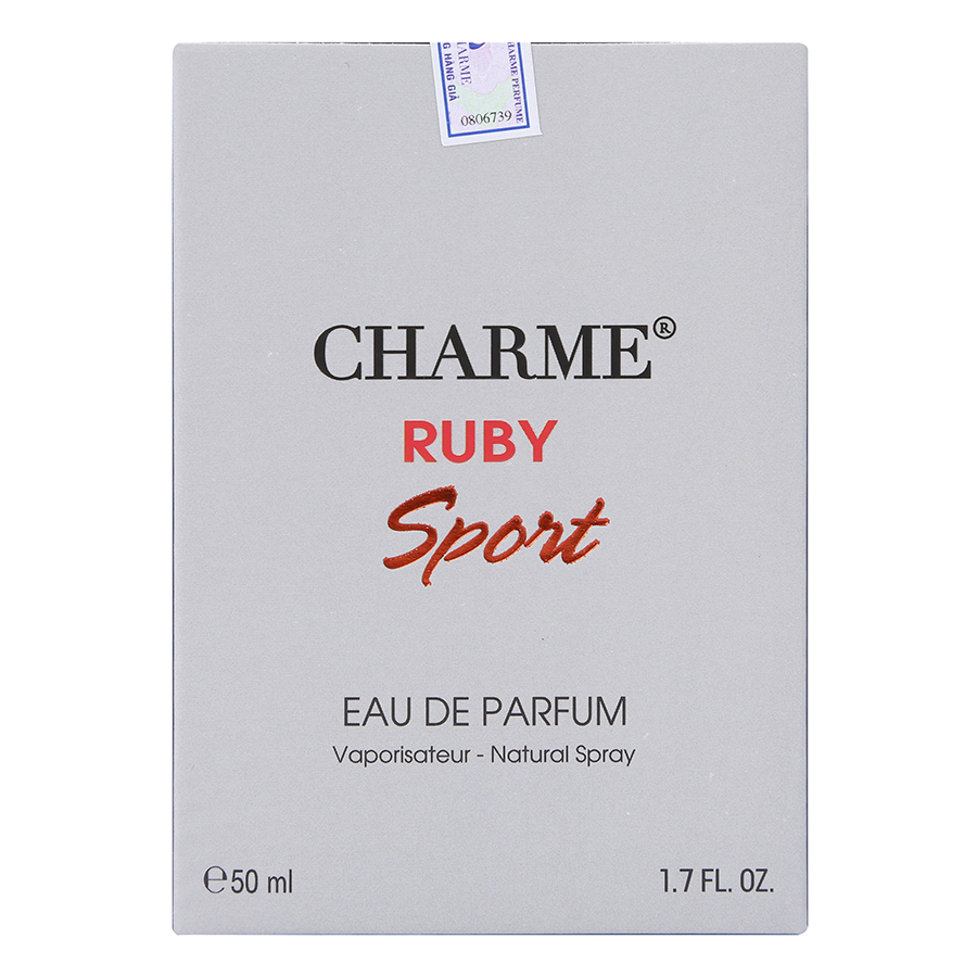 Nước Hoa Nam Charme Ruby Sport (50ml)