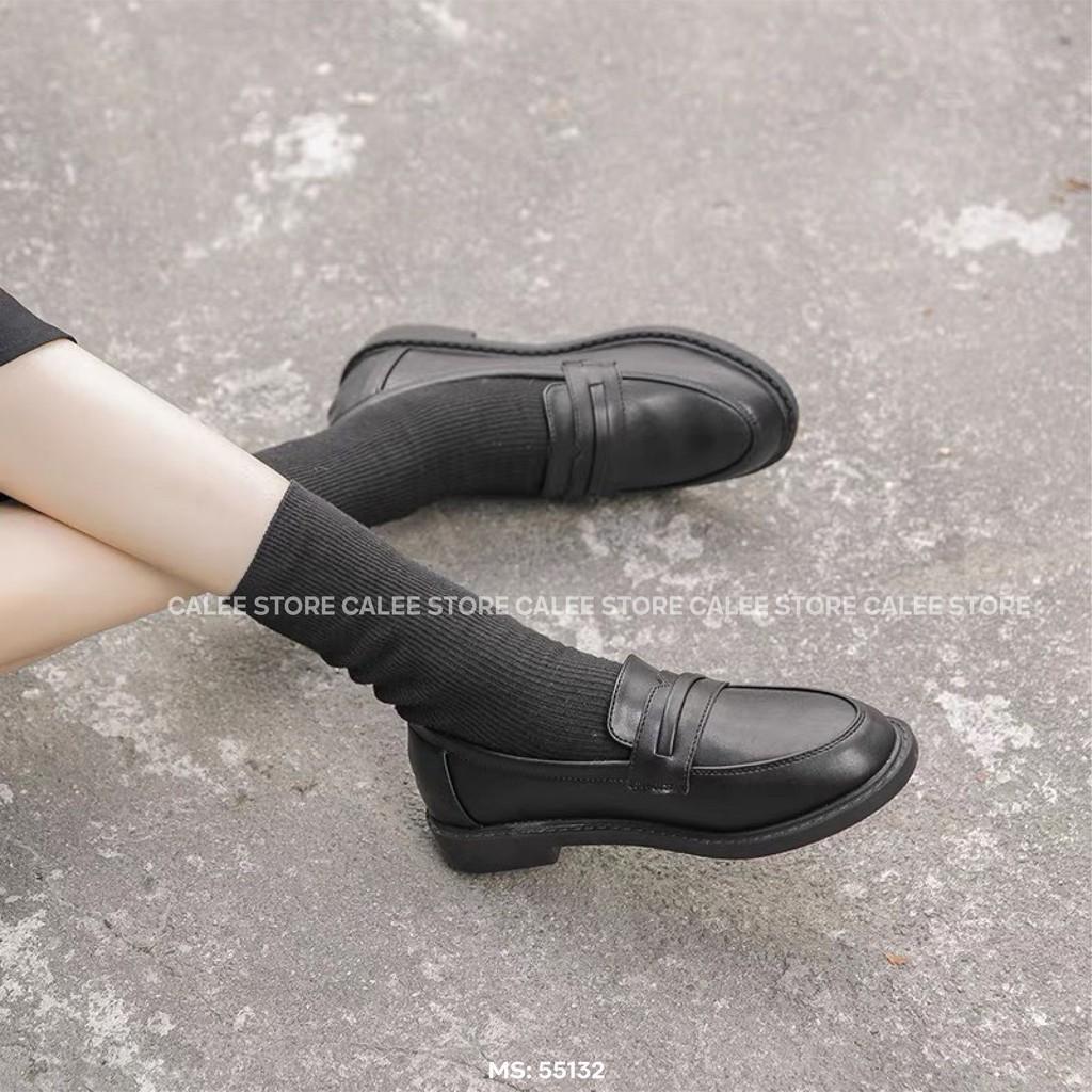 ẢNH THẬT VIDEO MỚI VỀ Giày moca loafer bệt văn phòng lười xỏ da mềm nữ 3cm có sẵn cao cấp đen trắng kem milinaa ulzzang