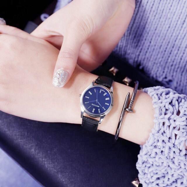 Đồng hồ nữ MSTIANQ kim xanh kính phản quang thời trang Hàn Quốc trẻ trung