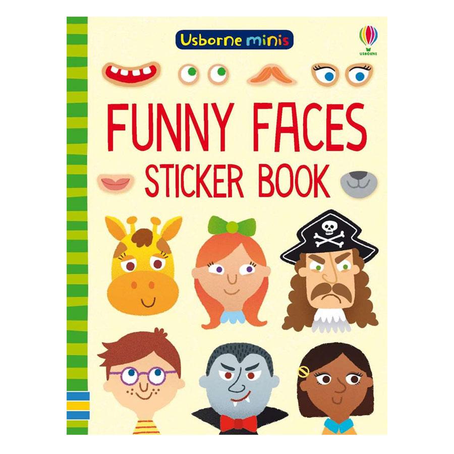Usborne Funny Faces Sticker Book