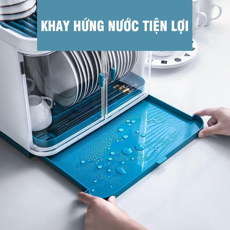 Kệ - Giá để và úp bát chén nhựa có nắp đậy - chạn bát nắp đậy - kệ bát nắp đậy KB02
