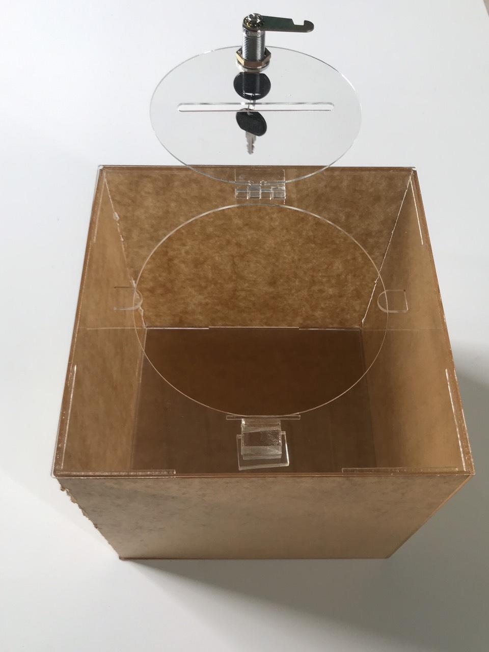 Thùng phiếu mica 2T - 20x20x20 (cm)