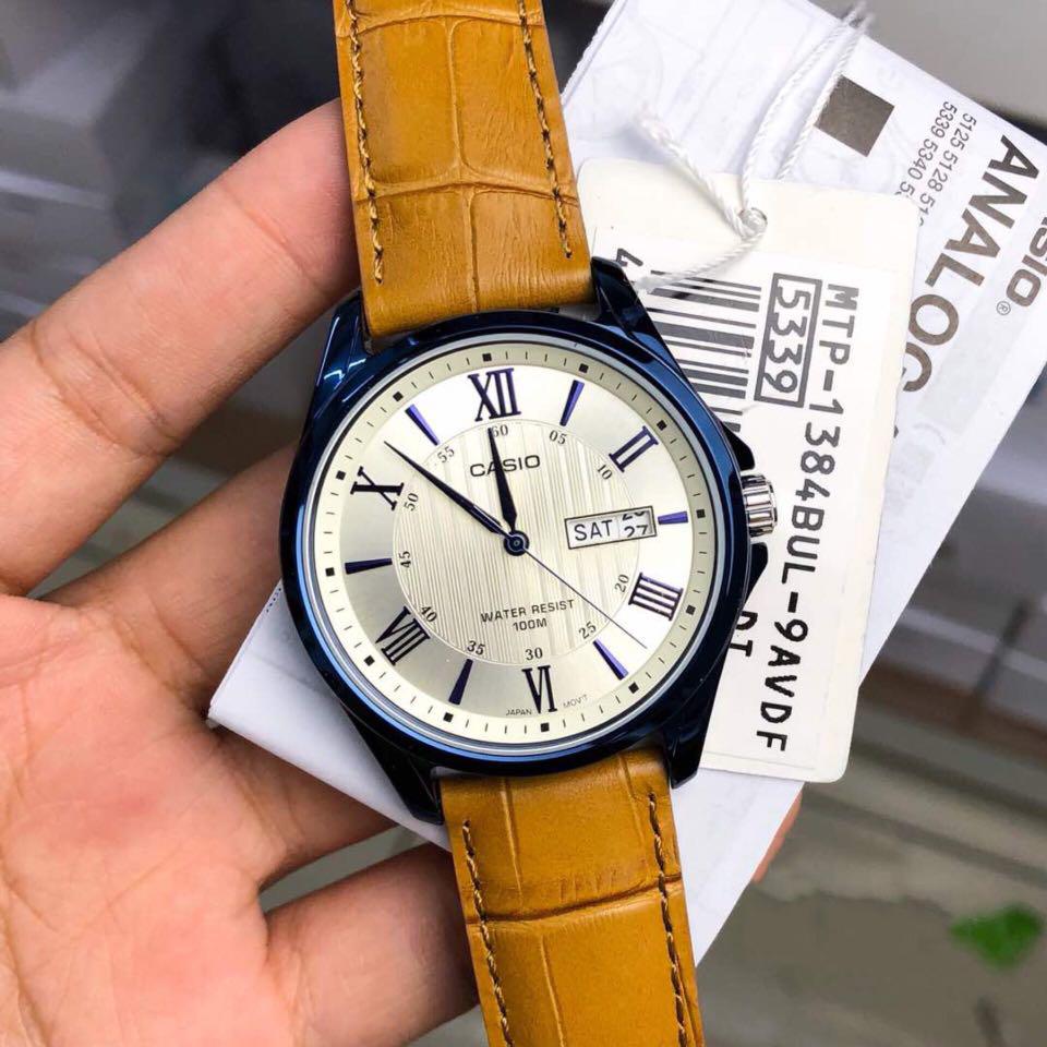 Đồng hồ nam dây da Casio MTP-1384BUL-9AVDF