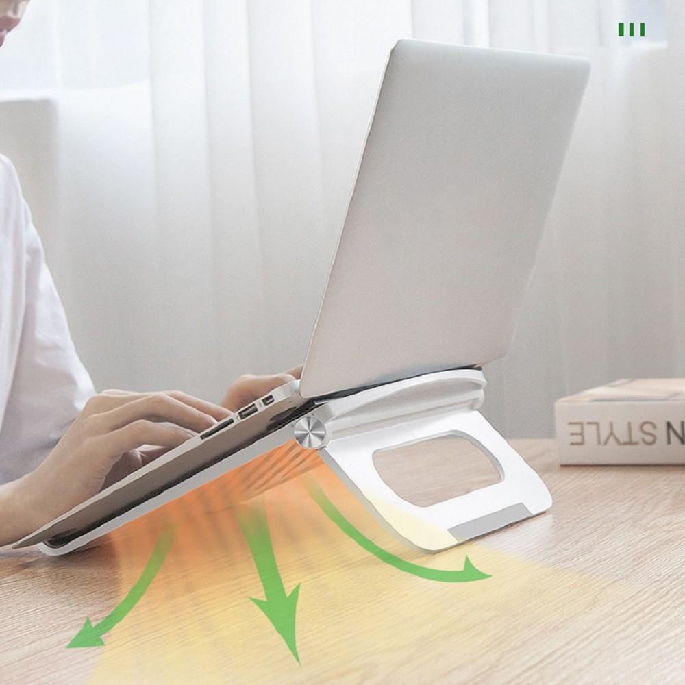 Giá đỡ tản nhiệt cho laptop, macbook, Ipad gấp gọn tiện dụng (màu ngẫu nhiên)