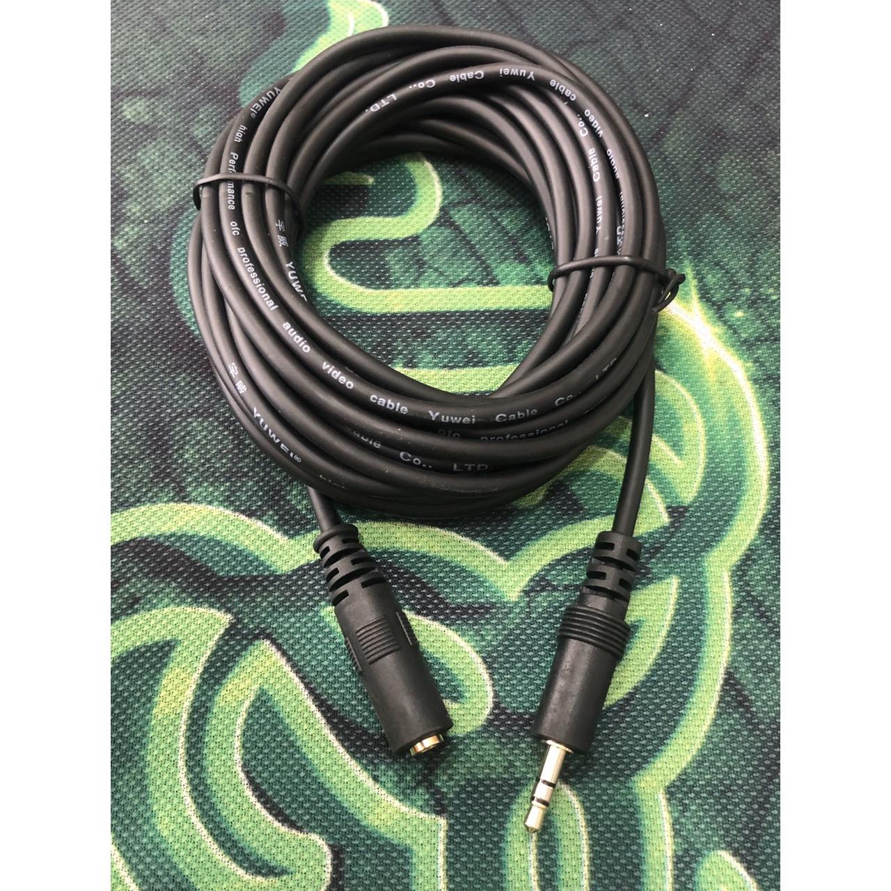Dây nối loa-tai nghe màu đen dài 5 mét