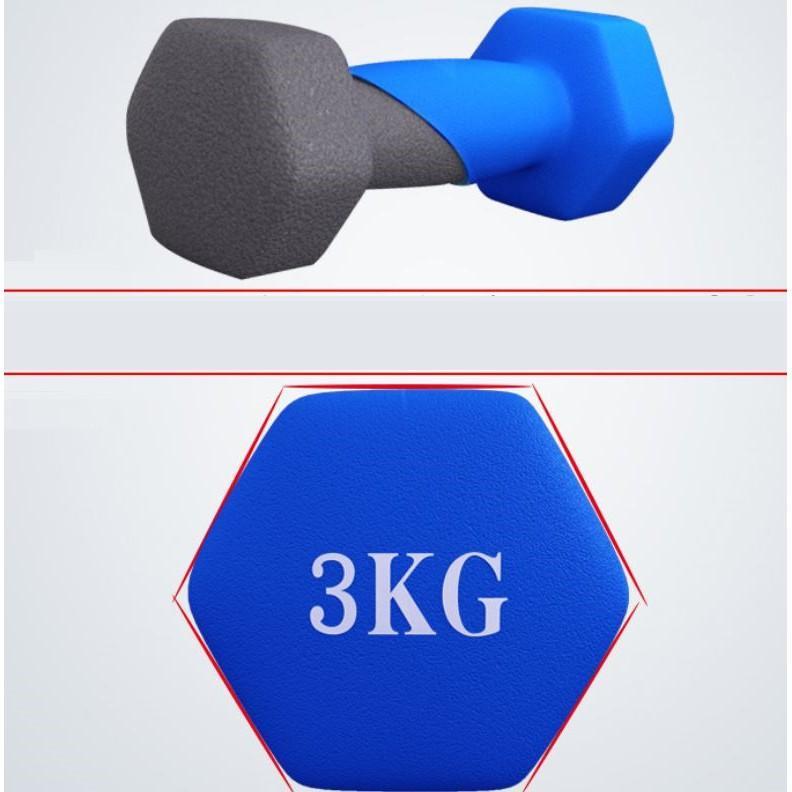 Bộ Tạ Loại 1kg bọc cao su (Tổng 2kg)