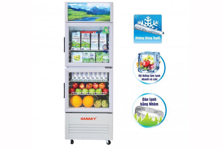 Tủ mát Sanaky 290 lít VH-358WL - Hàng chính hãng - Giao tại Hà Nội và 1 số tỉnh toàn quốc
