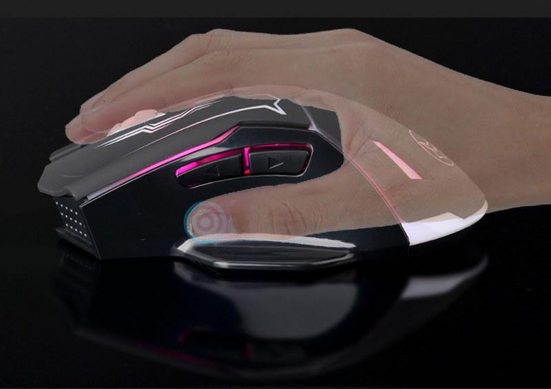 Chuột không dây 6 nút Pin sạc Siêu xịn IceFox - Hàng nhập khẩu