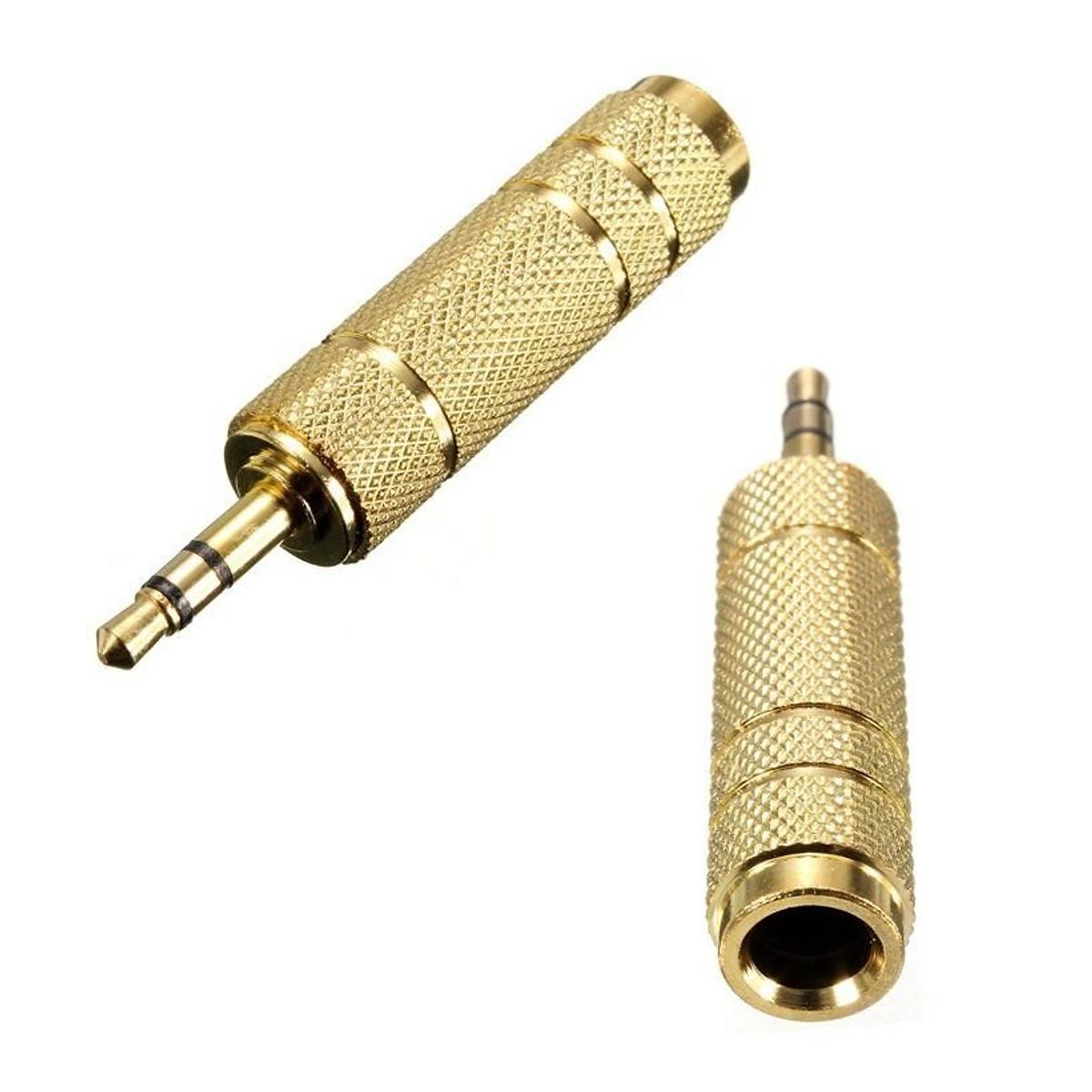 Đầu chuyển đổi âm thanh 3,5mm Dương ra 6,5mm ÂM - 6,5mm Âm sang 3,5mm Dương
