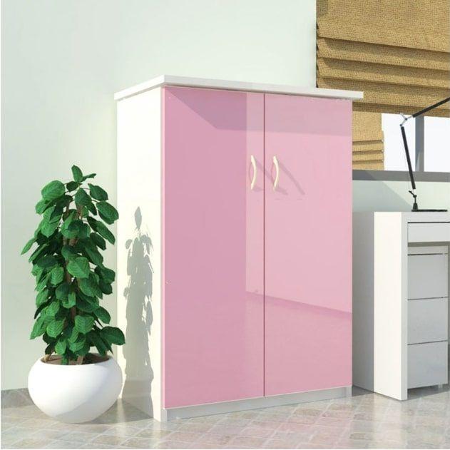 Tủ nhựa Đài Loan 2 cánh T204 màu hồng
