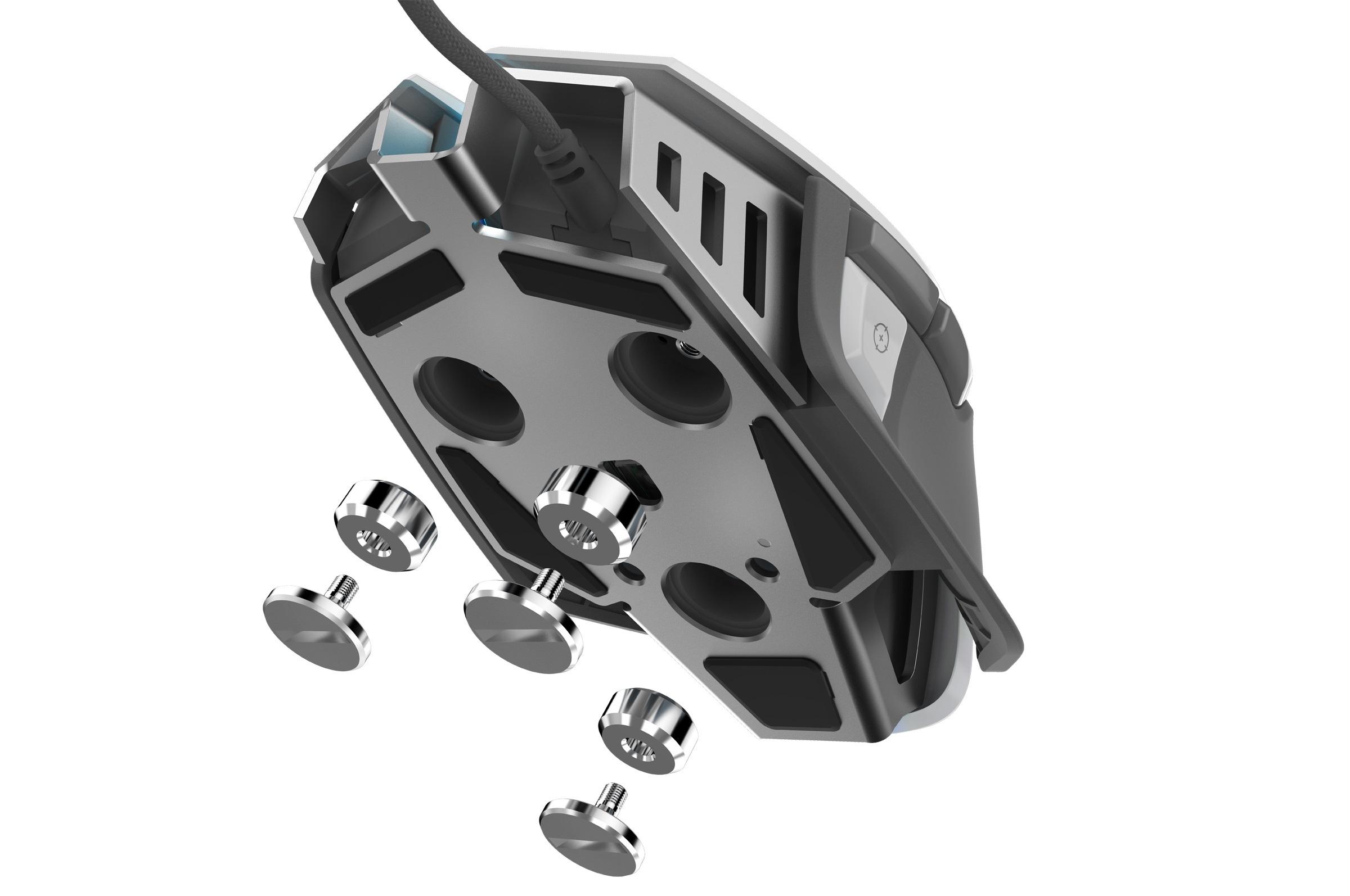 Chuột Corsair M65 ELITE Tunable FPS - White Grey - Hàng Chính Hãng