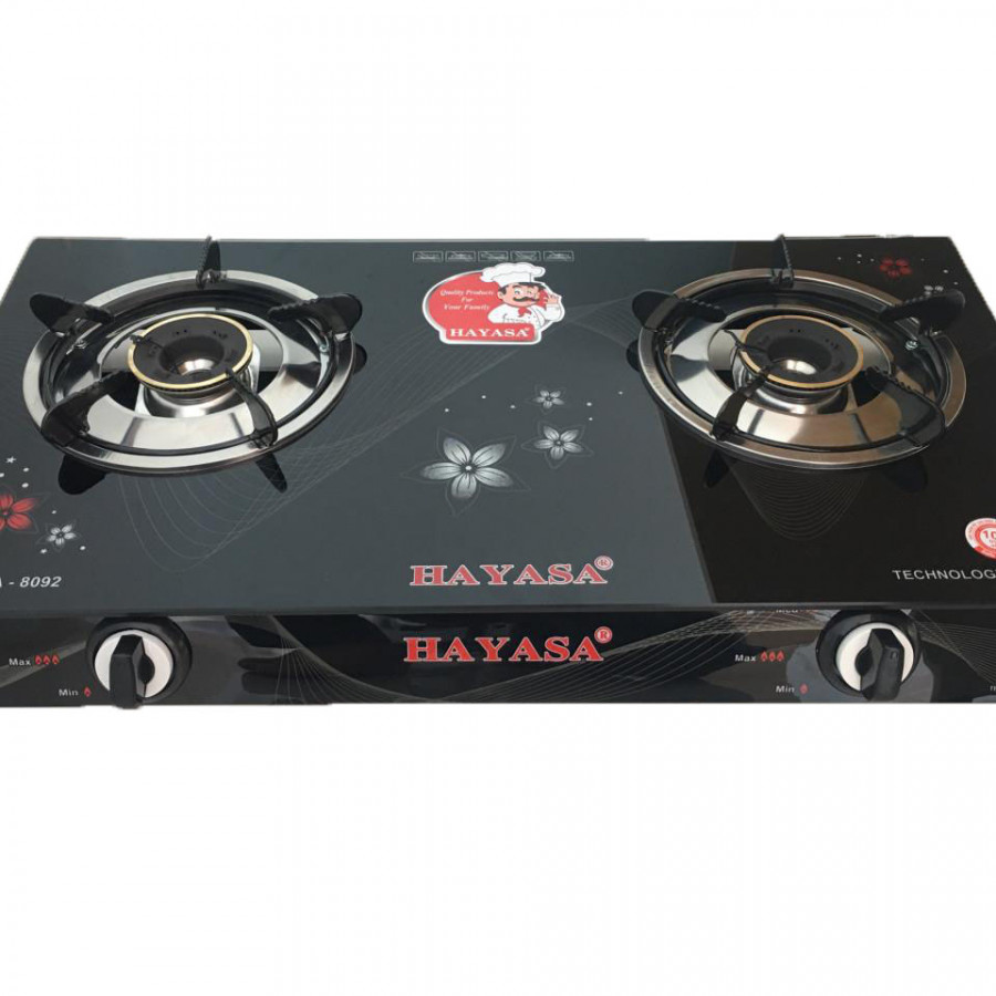 Bếp Gas đôi kính cường lực Hayasa HA-8092 - Hàng chính hãng