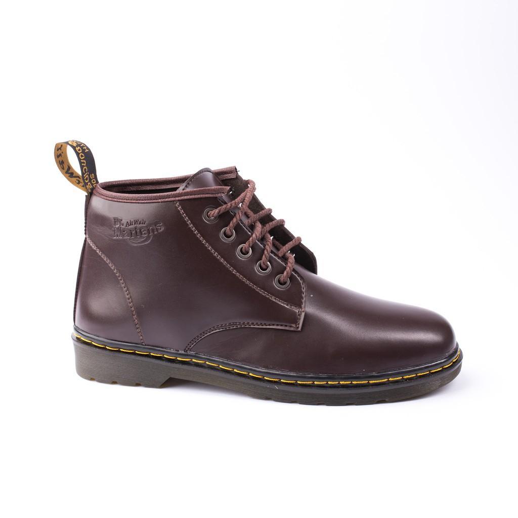 Giày Boot Nam Cổ Lửng Đế Khâu Da Trơn Màu Nâu Phong Cách - M354-NAU(V)-NAU