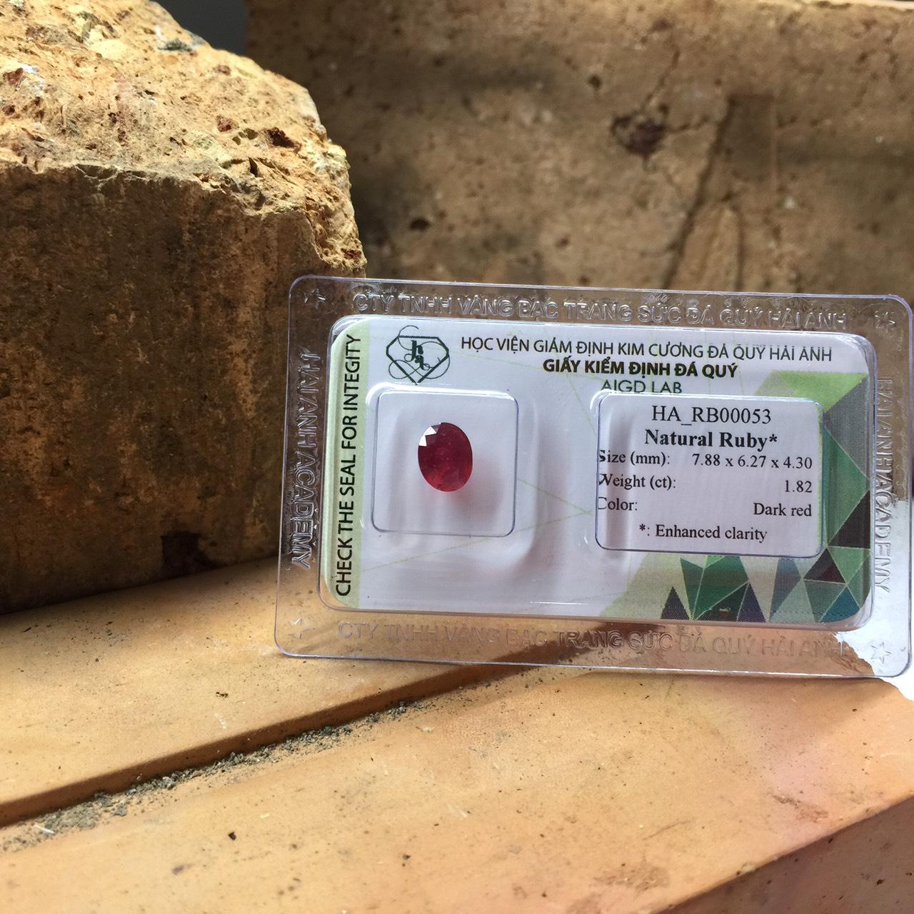 Viên đá Ruby thiên nhiên_HA-RB00053