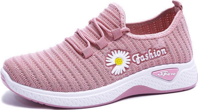 Giày thể thao nữ hoa cúc đi bộ cực êm siêu xinh V253 - Hồng - Size 39
