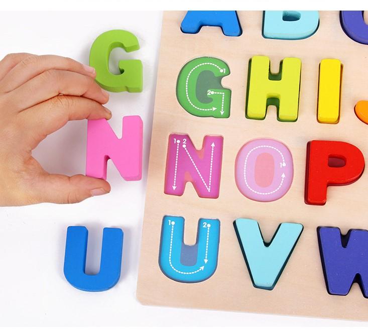 Bảng 26 chữ cái in Hoa bằng gỗ