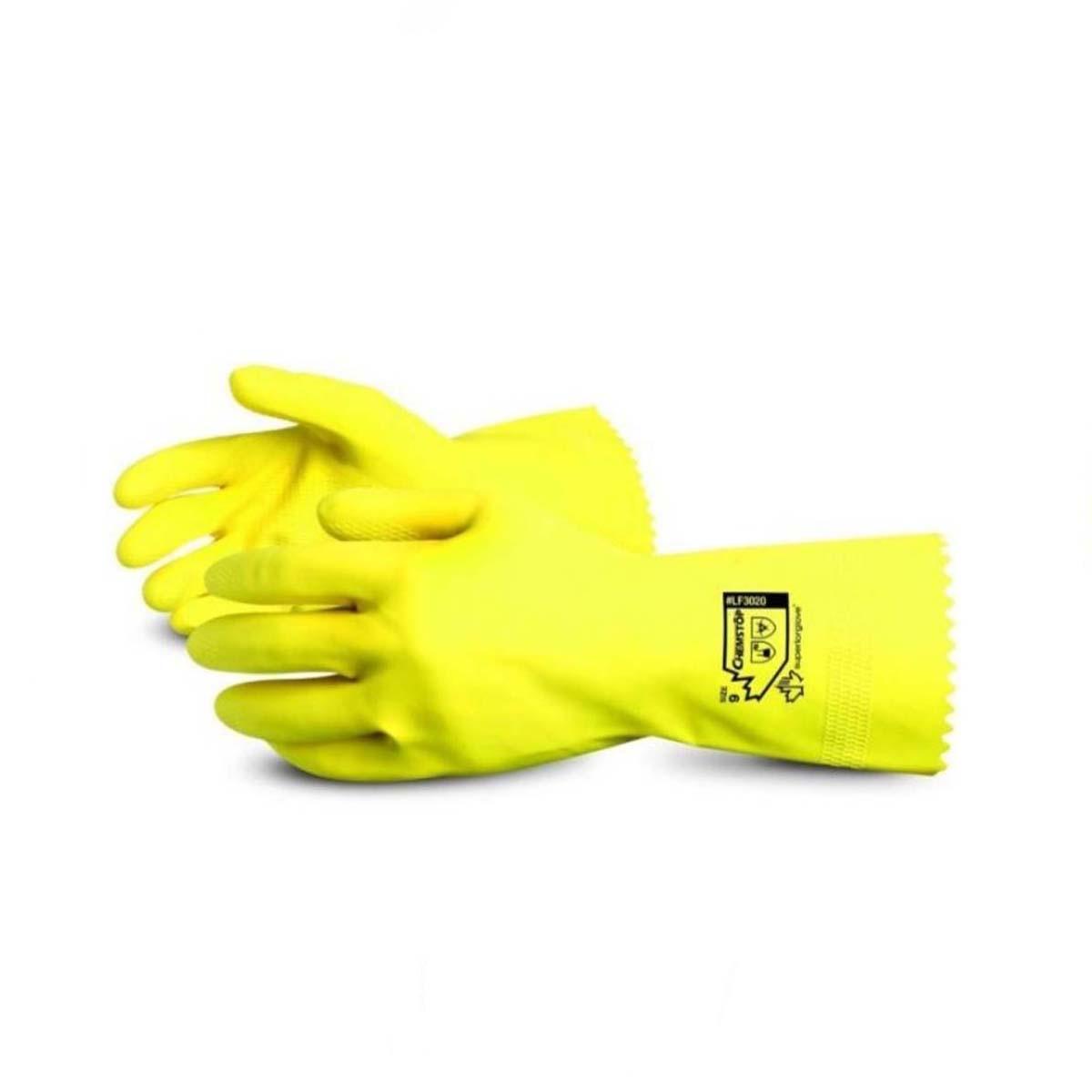 Combo 2 đôi Găng tay chống hóa chất SUPERIOR LF3020 Chemstop an toàn cho thực phẩm