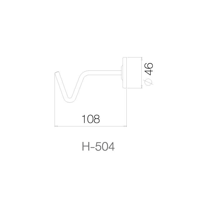 Móc treo - H-504 - INOX SUS 304