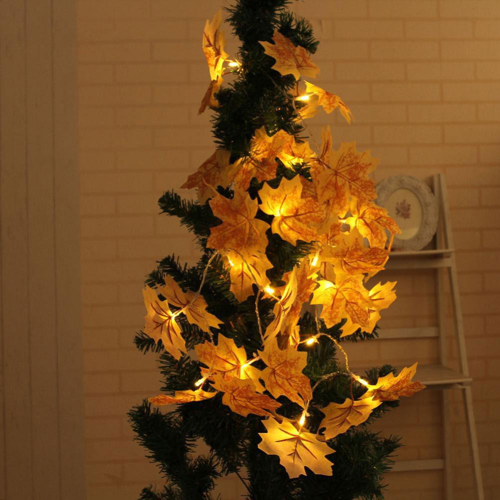 Dây đèn trang trí Maple Leaf LED String năng lượng mặt trời