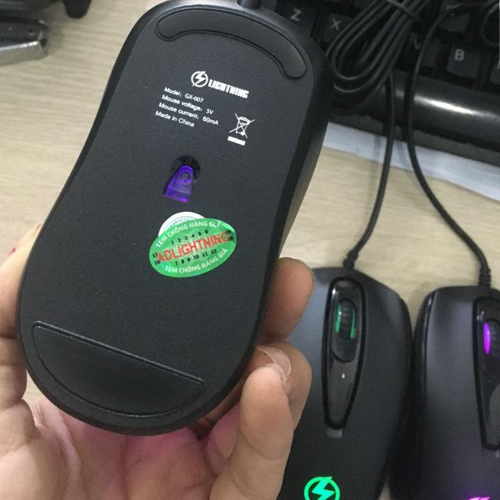 Chuột Lightning GX007 Led click 20 triệu lượt- Hàng Nhập khẩu