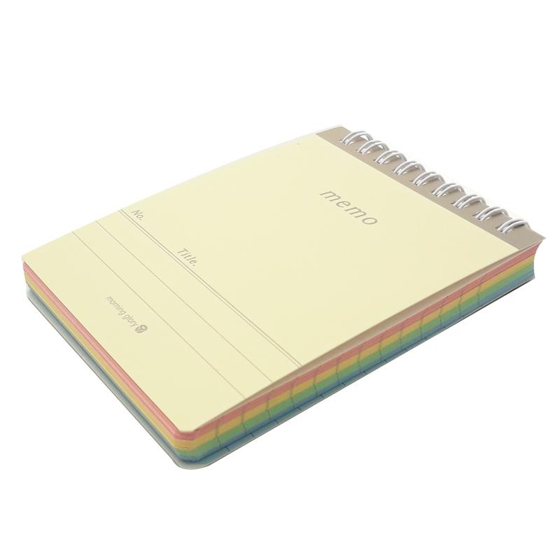 Sổ Ghi Chú Pastel Rainbow Lò Xo Trên - Morning Glory 83052 - Mẫu 1 - Vàng Nhạt