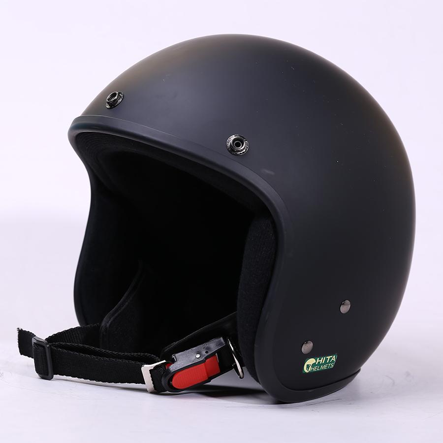 Mũ bảo hiểm CHITA 3/4 CT1 - Đen sơn mờ