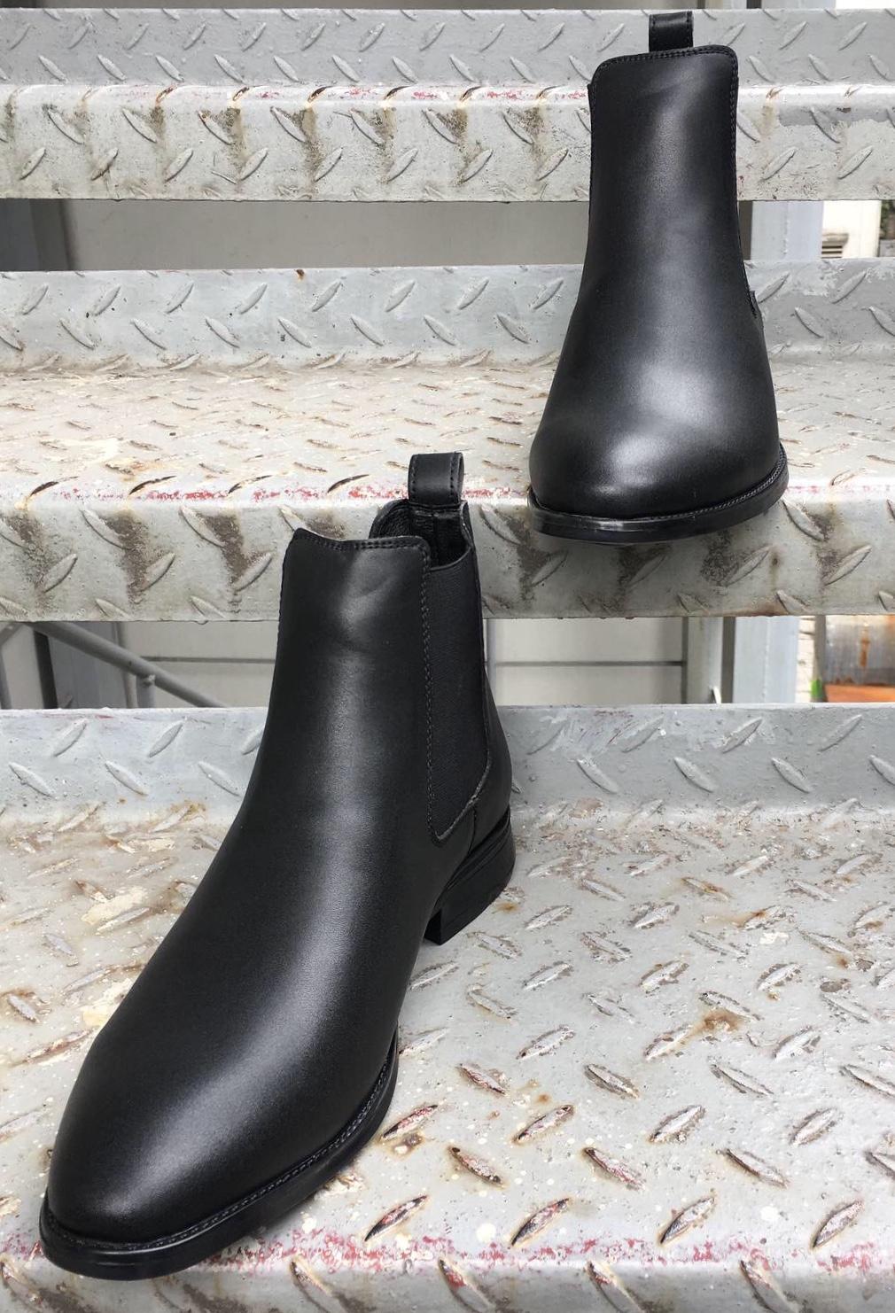 Giày da nam Chelsea Boost da PU phiên bản 2020 cao cấp