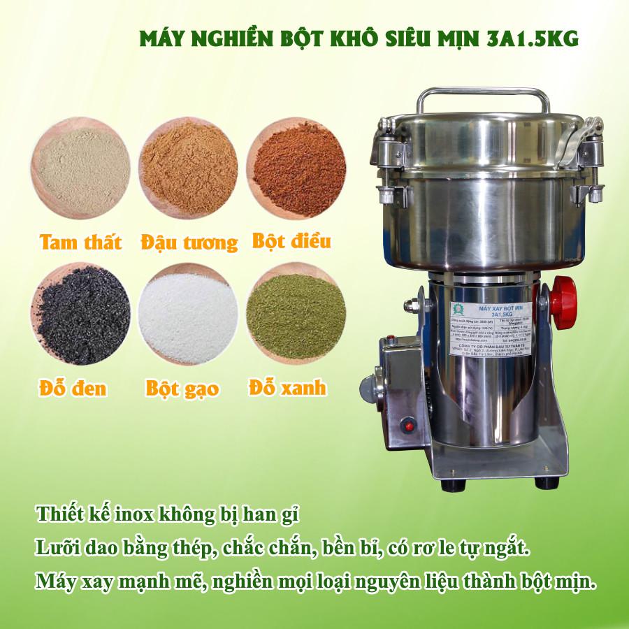 Máy nghiền bột khô siêu mịn 1.5kg