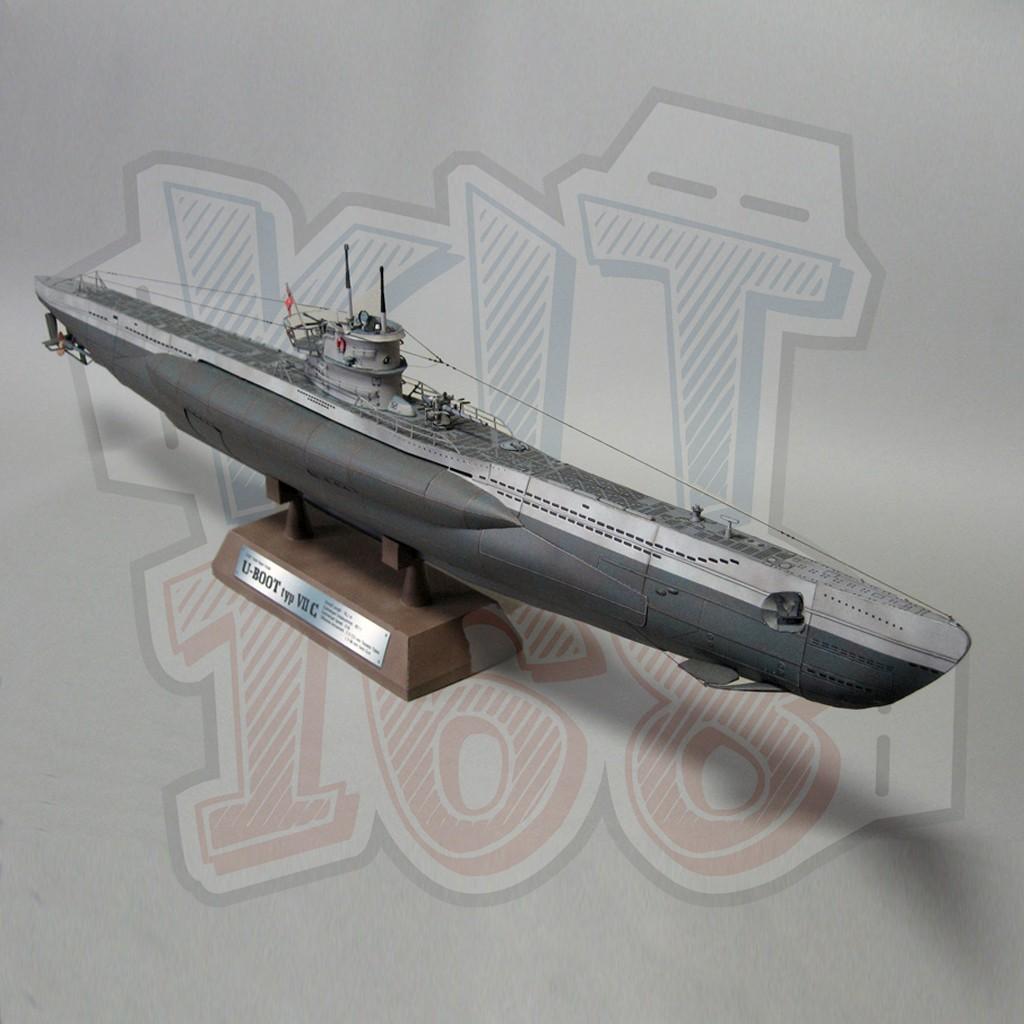 Mô hình giấy Tàu thuyền Quân sự German U-Boat type VII