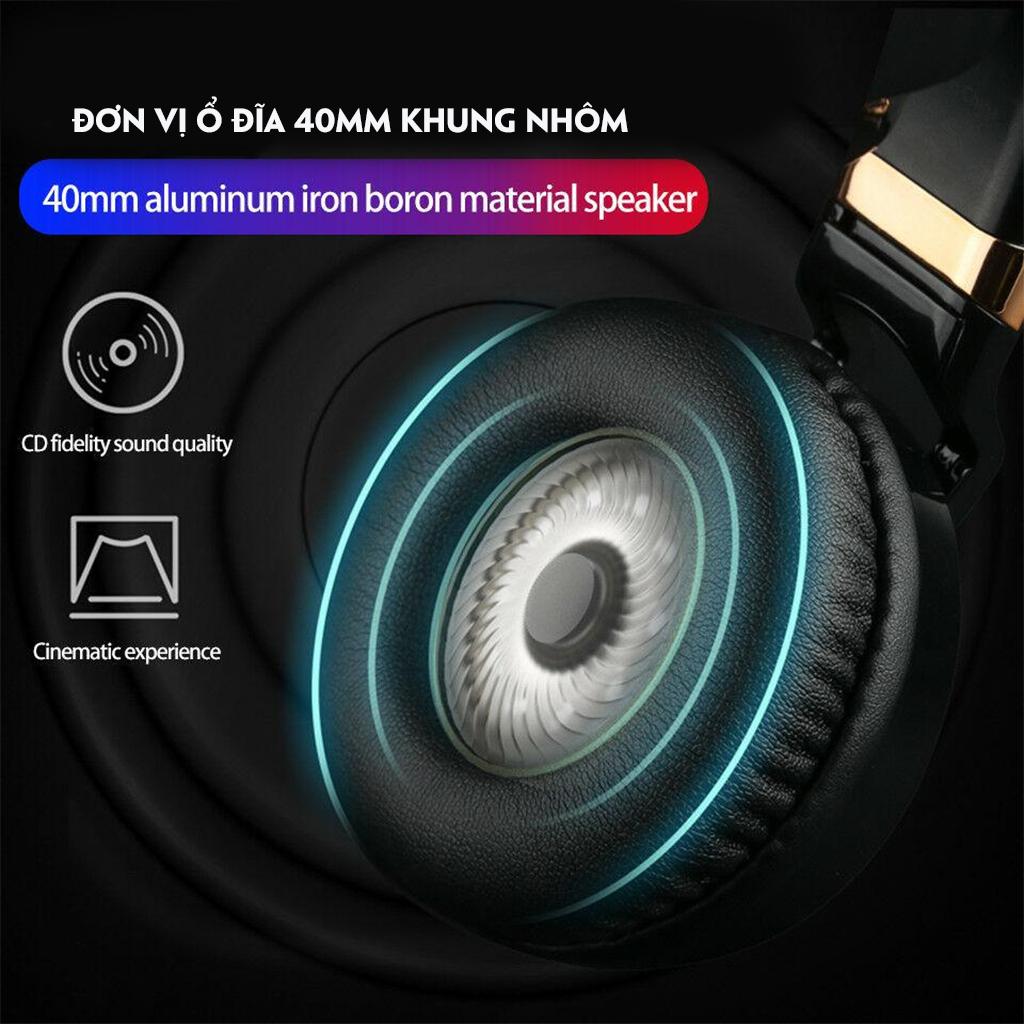 Tai Nghe Chụp Tai  PICUN C60 3.5mm Tai Nghe Âm Thanh Vòm 4D Siêu Bass có Mic-4127-Hàng Nhập Khẩu