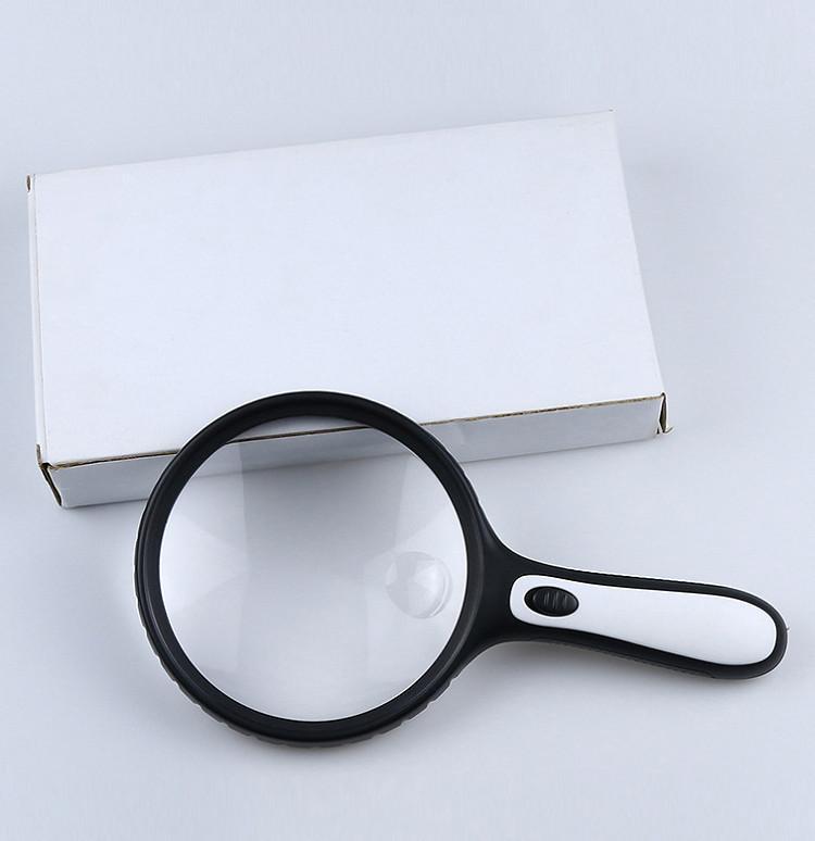 Kính lúp 145mm cầm tay phóng đại 5x-10x  soi vi mạch, đọc báo cho hình ảnh rõ nét, chân thực ( Tặng đèn led mini cắm cổng USB màu ngẫu nhiên )