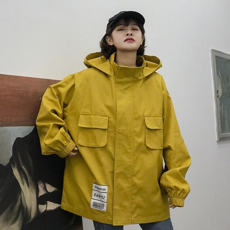 Áo khoác kaki túi hộp cao cấp hoạ tiết POLES C084