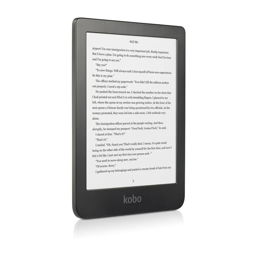 Máy đọc sách Kobo Clara HD 8GB đen, 6 inch, có đèn cam - Hàng nhập khẩu