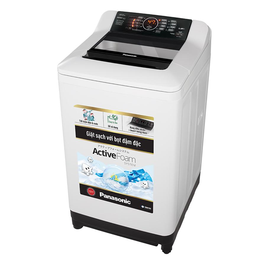 Máy Giặt Cửa Trên Panasonic NA-F100A4HRV (10kg) - Xám Nhạt - Hàng Chính Hãng