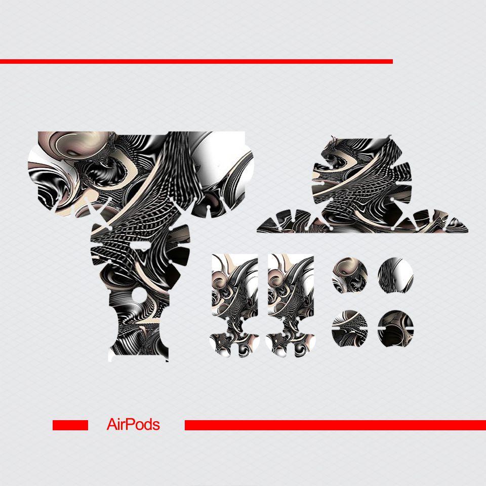 Miếng dán skin chống bẩn cho tai nghe AirPods in hình Họa tiết - HTx104 (bản không dây 1 và 2)