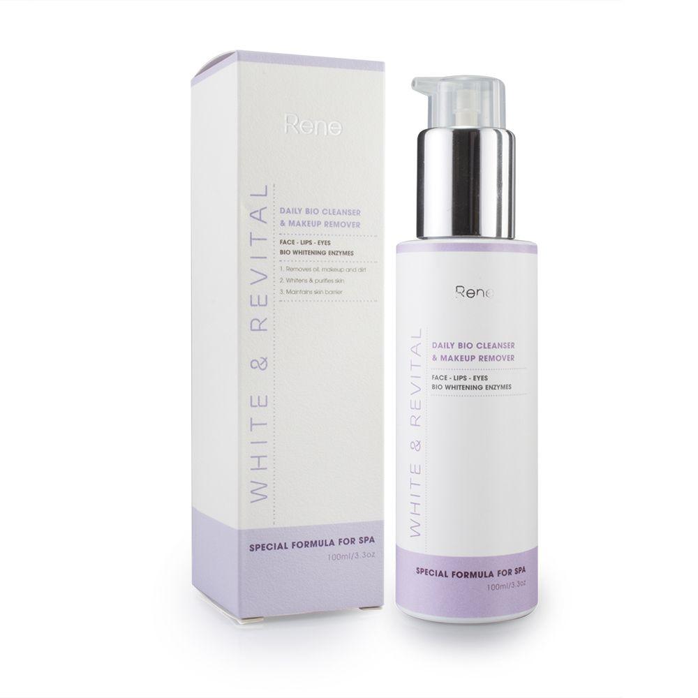 Sữa rửa mặt tẩy trang làm trắng RENE WHITE & REVITAL Daily Bio Cleanser & Makeup Remover (100ml)