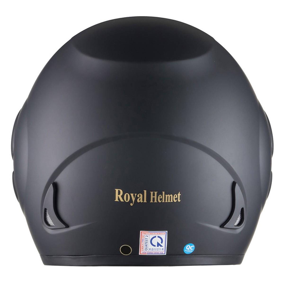 Mũ Bảo Hiểm 3/4 Royal M01 _ Kính trà