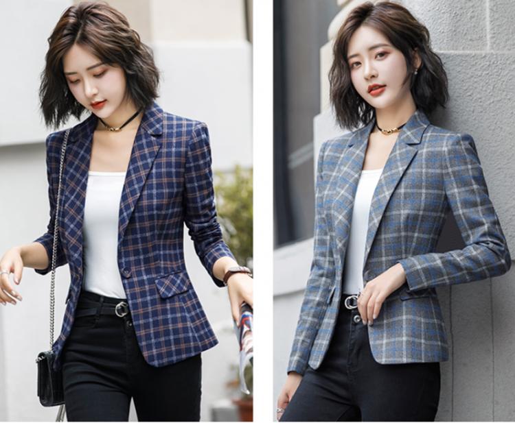 Áo khoác vest nữ caro phong cách Hàn Quốc NA66 1