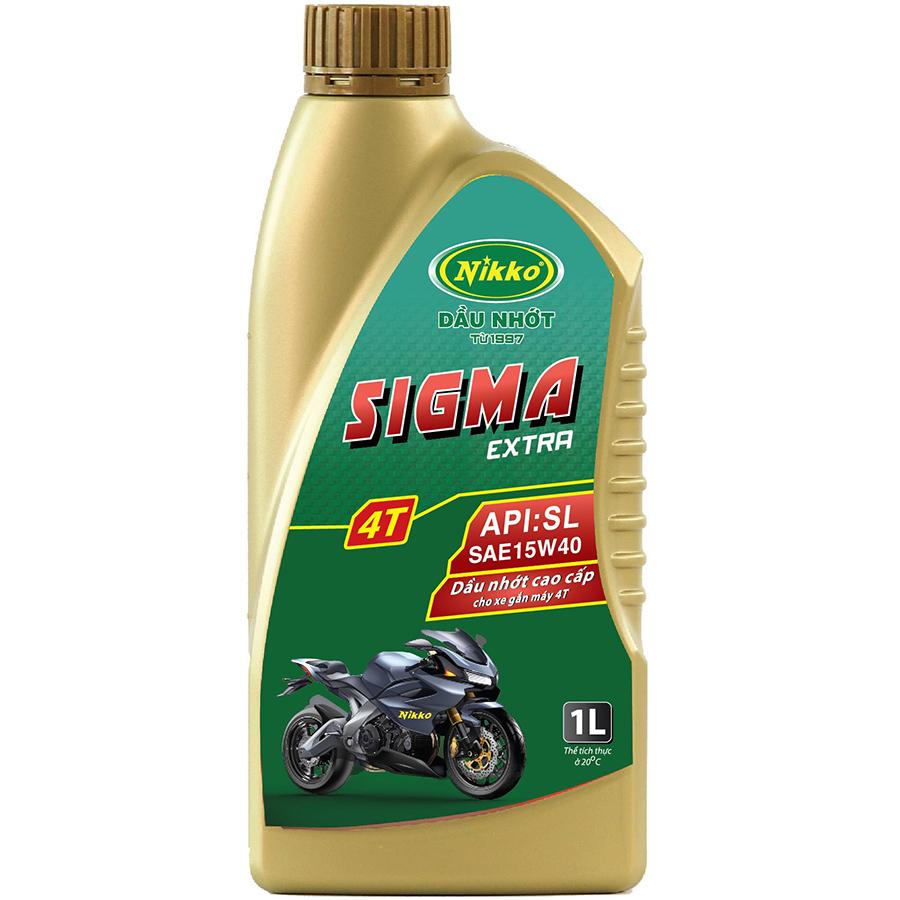 Nhớt Xe Số Nikko Sigma Extra 4T (Đồng) SAE 15W40 API: SL - 1 Lít