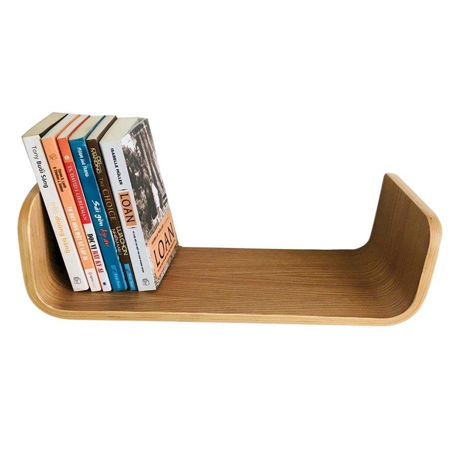 Kệ Sách Treo Tường Uốn Cong Book Shelf Plyconcept BS0101 (490 x 150 mm) - Gỗ