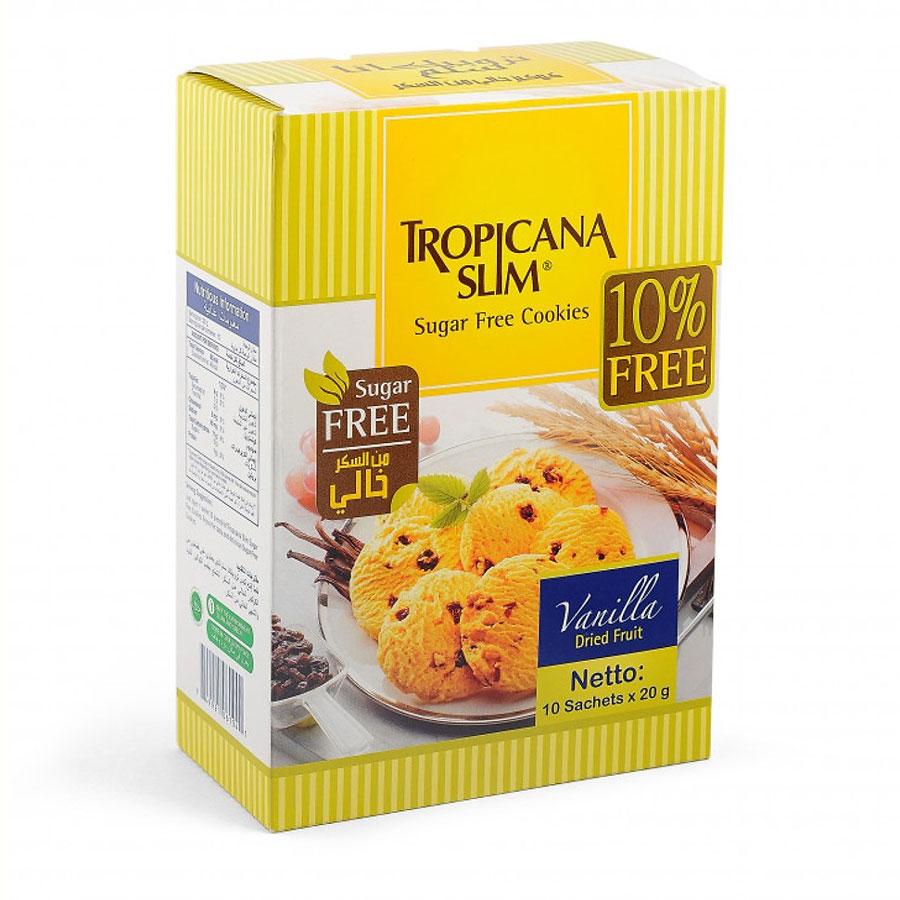 Bánh Ăn Kiêng Cookies Tropicana Slim Hương Vani   Tiki
